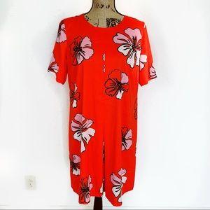 Vince Camuto Dresses | Orange Midi Floral Dress